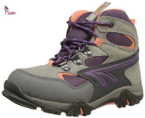 Hi-Tec Nepal Waterproof, Chaussures Bébé Marche Mixte Enfant - - Charcoal/Grey/Limoncello, 34 EU