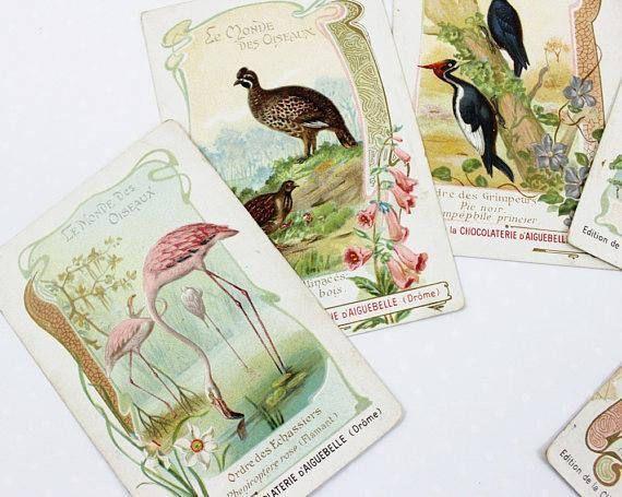 French Chromo Trade Cards Antique  Chocolate Cards