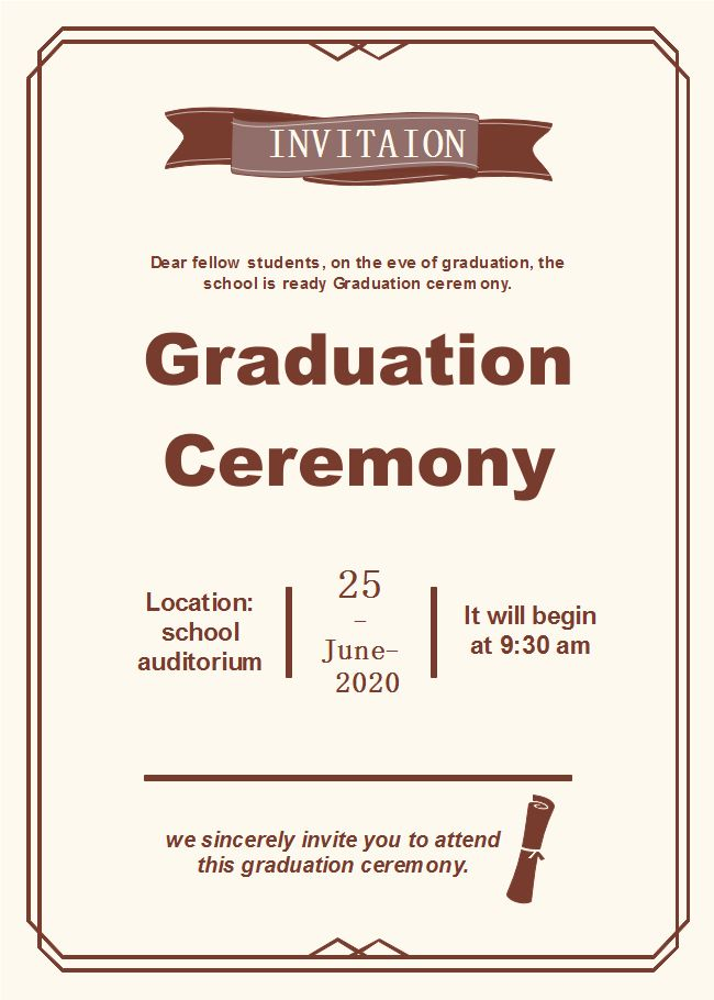 Graduation Invitation Template Luxury Graduation Ceremony Invitat Graduation Invitations Template Graduation Party Invitations Templates Graduation Invitations