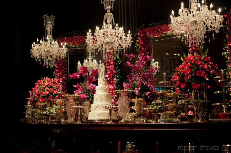 Decoração de Casamento  Preto e Pink  Douglas Ranzolin Eventos
