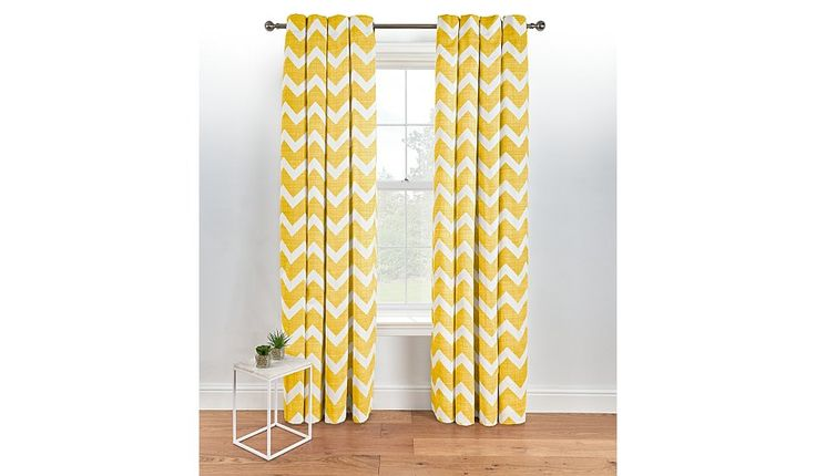 Offering a fresh and contemporary look to all interiors, these chevron eyelet curtains from George Home are a beautiful choice for the home. Fully lined for ...