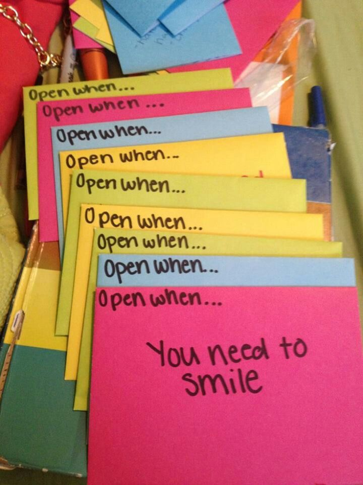Open when....letters to a loved one...