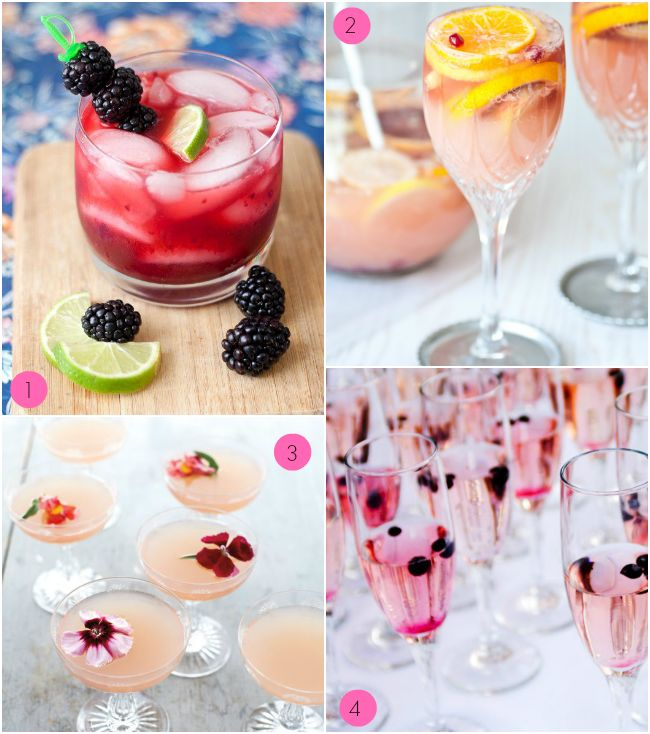 Here is a lovely round up of delicious cocktails for your next bash, #Bridal #Shower or bachelorette party!