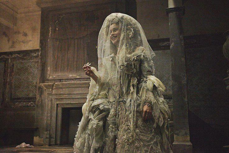 Great Expectations - Helena Bonham Carter as Miss Havisham, wearing her old and tattered wedding dress.