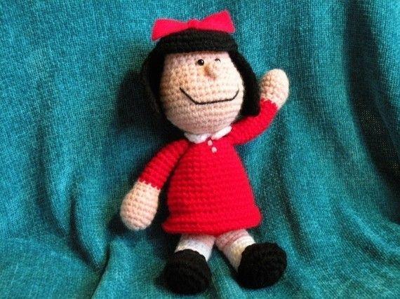 PDF Mafalda  10.8 inches / 27 cm  amigurumi doll crochet