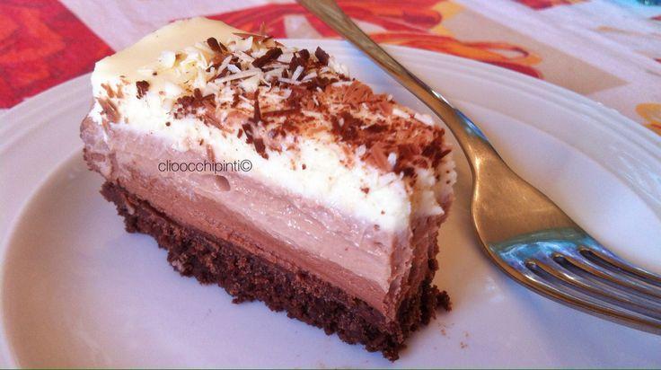 Cheesecake triplo cioccolato ~ triple chocolate cheesecake