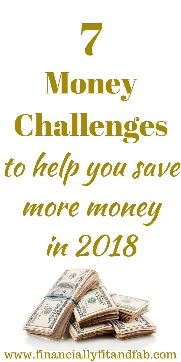 7 Money Challenges to Help you Save More Money in 2018 | How to Save money | Saving | Saving more money | Saving money | Budgeting | Investing | Money management | Money Challenge | How to Save $5000