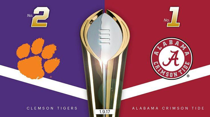 Alabama vs Clemson for the 2017 National Championship #Alabama #RollTide #Bama #BuiltByBama #RTR #CrimsonTide #RammerJammer
