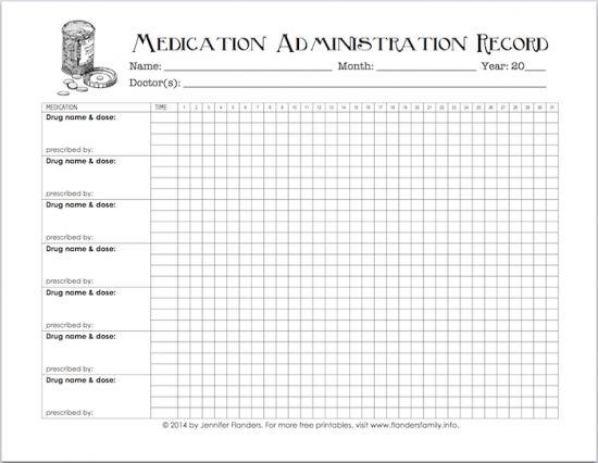 daily medication log sheet