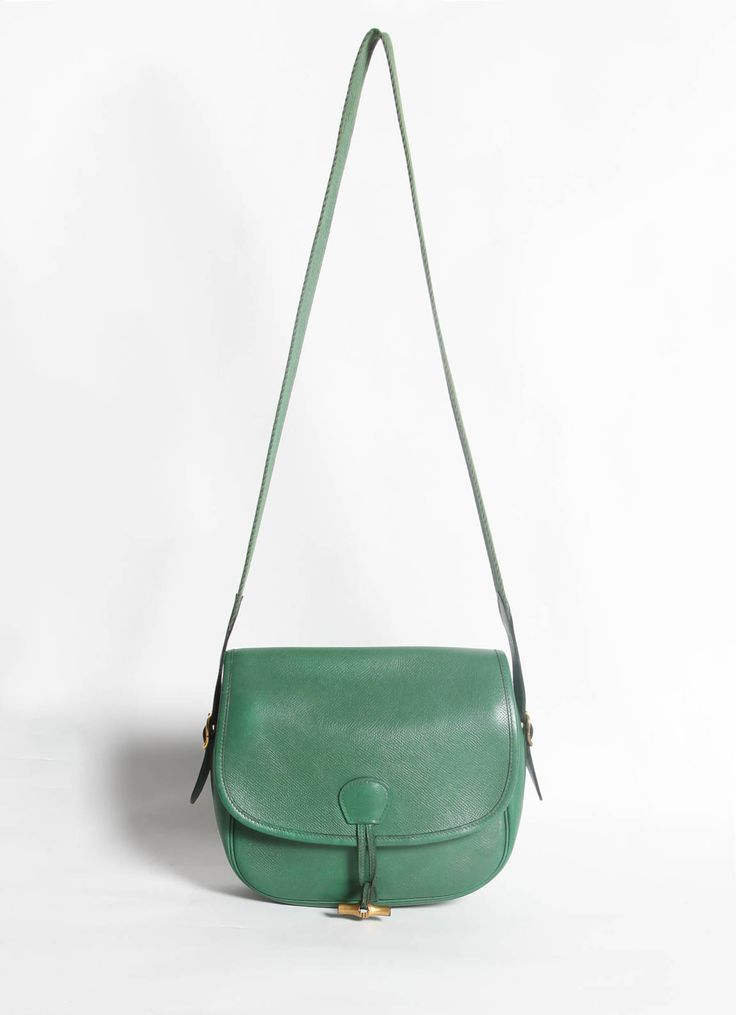 Herm¨¨s | Vintage Green Balle de Golf Bag | RESEE | Garden Party ...