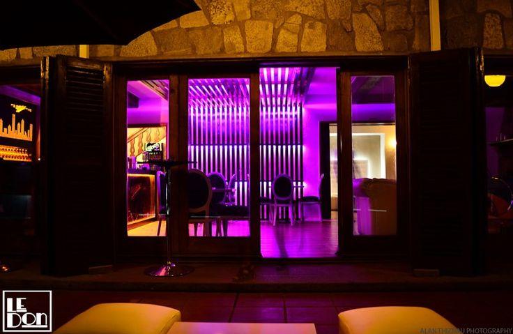 Le Don lounge bar. #led #colors #terrace