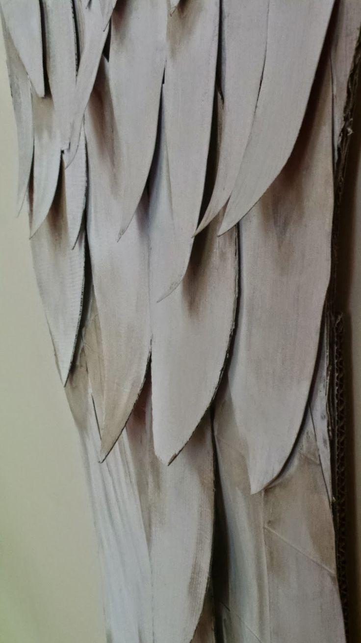 DIY angel wings cardboard upcycle
