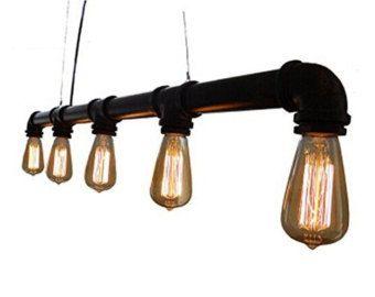 Opknoping hanger industriële Pipe licht door WestNinthVintage