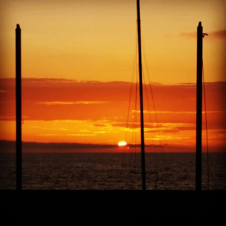 Summer beach time. California sunset. Let's travel more! Redondo Beach