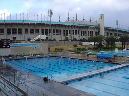L.A.'s 19323 Olympic Swim Stadium  - pride of our City and an awesome, pristine place to swim!