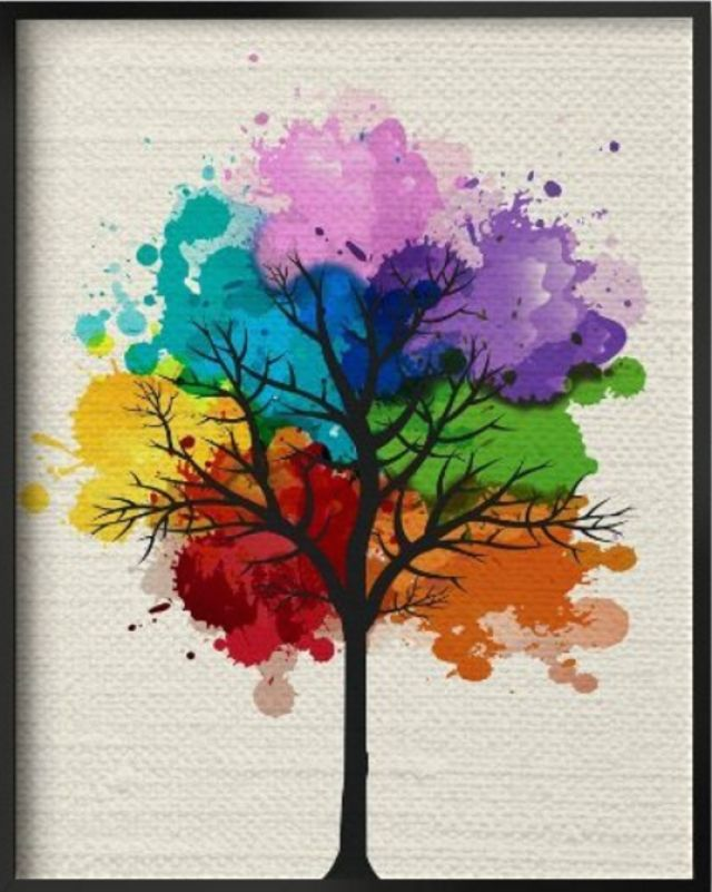 Best 25 tree art ideas on pinterest eddie red colorful for Where can i buy rainbow roses in the uk