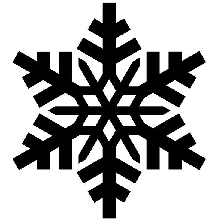 Simple Snowflake Silhouette 489 best Snowflake Sil...