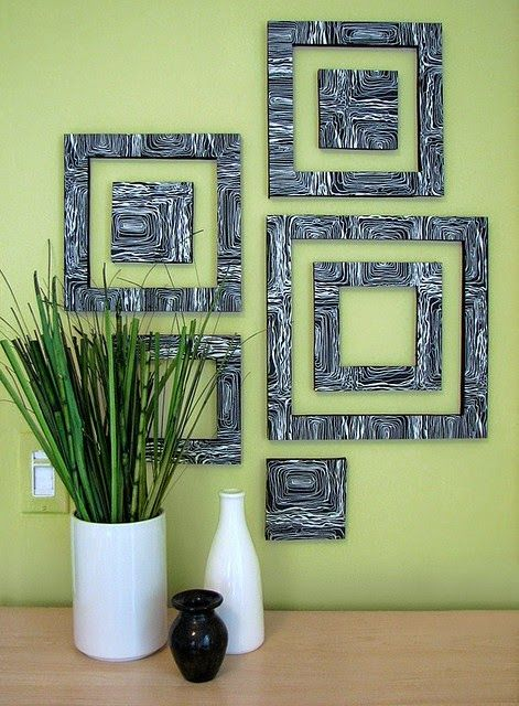 7 best Φελιζολ images on Pinterest | Craft, Diy wall decor and Frames