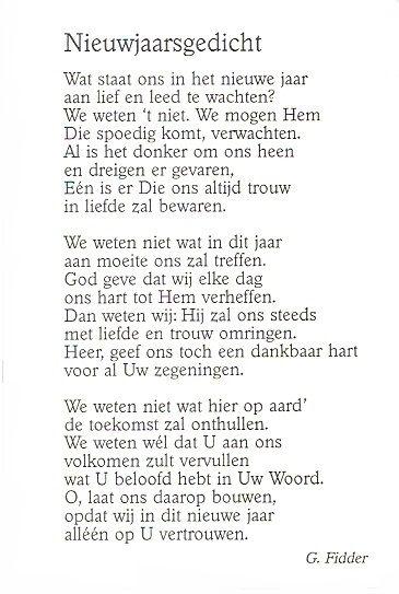 Nieuwjaarsgedicht G Fidder