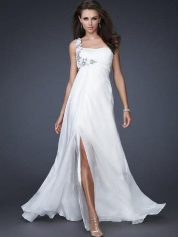 2013 Style A-line One Shoulder Hand-Made Flower Sleeveless Floor-length Chiffon White Prom Dress _ Evening Dress. br_Product Name2013 Style A-line One Shoulder Hand-Made Flower Sleeveless Floor-length Chiffon White Prom Dress _ Evening Dressbr_br_Weight2kgbr_br_ Start From1 Unitbr_br_ br_br_Sleeve LengthSleevelessb.. . See More One Shoulder at http://www.ourgreatshop.com/One-Shoulder-C935.aspx