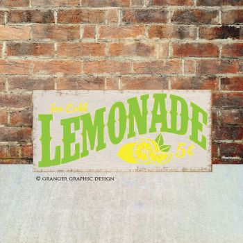 Happy first day of summer! Lemonade hand painted wood sign