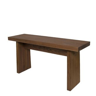 Fine craft wood bench by Michael Holton (Calgary, AB). Member of the Alberta Craft Council