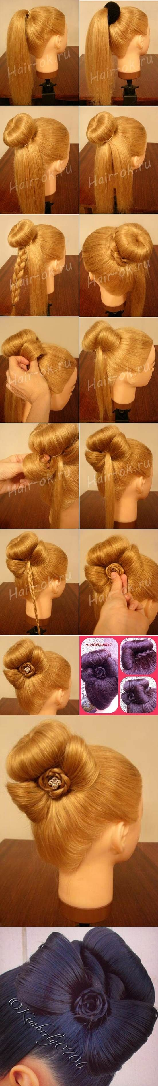 DIY Elegant Bun Decorated with a Bow | iCreativeIdeas.com Like Us on Facebook ==> https://www.facebook.com/icreativeideas