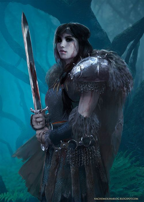A warrior girl (Kinda reminds me of Reyna)