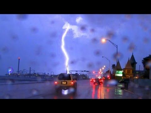 "The Sound of Driving in The Rain 40mins ""Sleep Sounds""  The Sound of Rain on a Car while Driving around Galveston Texas."