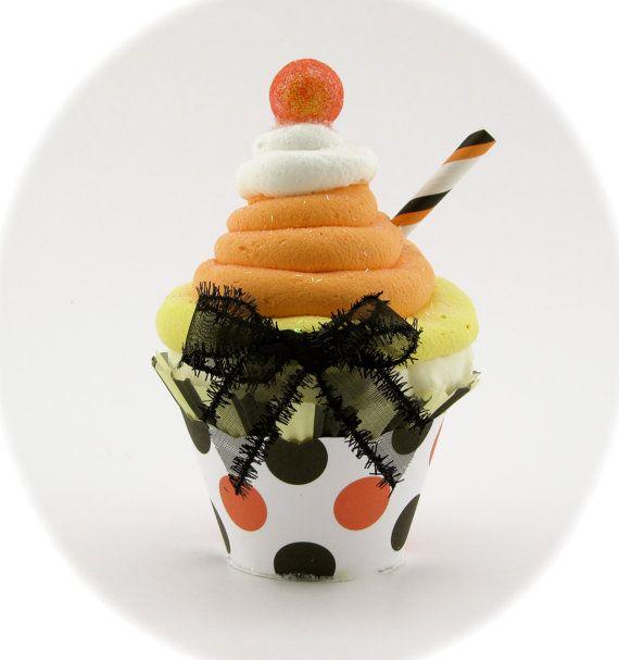 Fake Cupcake Candy Corn Decor Candy Corn by 12LegsCuriosities