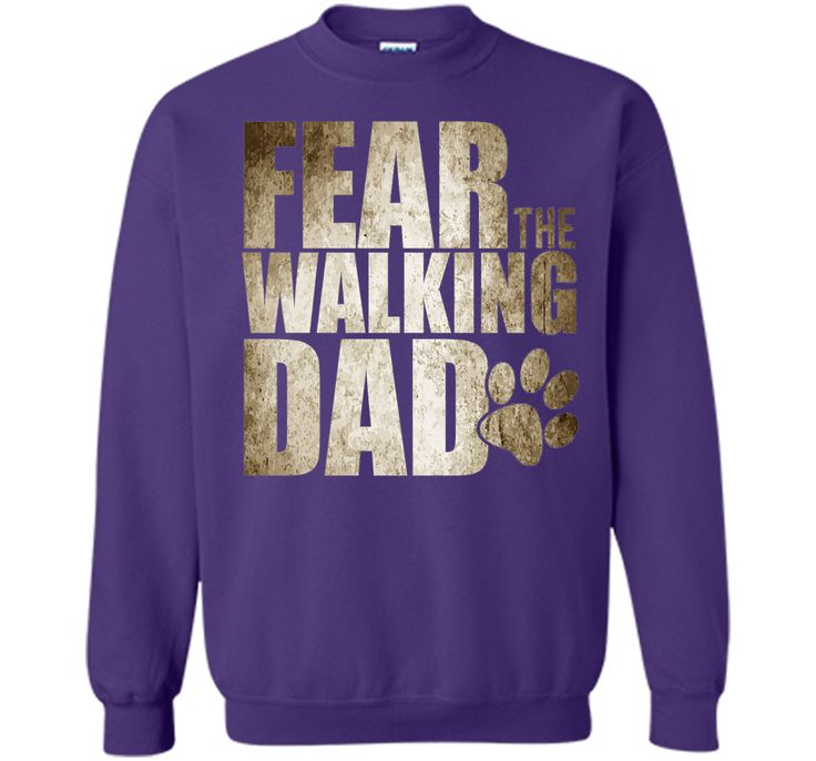 Men's Fear The Walking Dad Shirt, Funny Dog Lover Gift Fathers Day