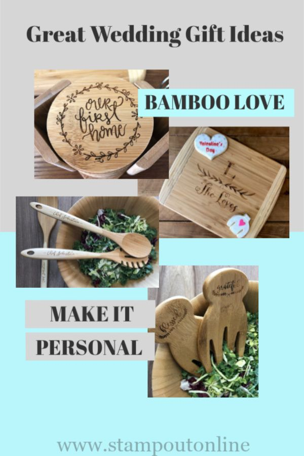 Bamboo Salad Hands Great Wedding Gifts Engraved Bamboo Wedding Gifts