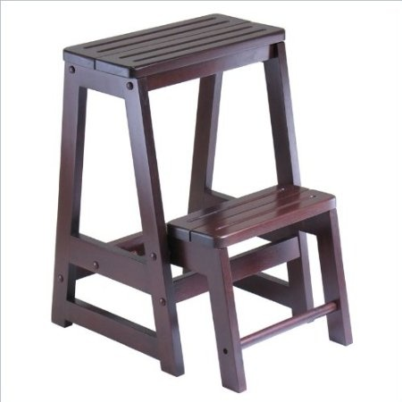 The Wooden Folding Step Stool is a 22 inch high two-tiered wooden step stool with a classy antique walnut finish that folds into itself for easy storage  sc 1 st  Pinterest & 41 best steps images on Pinterest | Step stools Ladders and Woodwork islam-shia.org