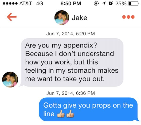 Funny online dating pick up lines