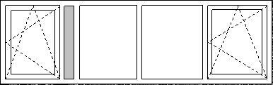Prefab Dakkapellen -Kozijn Type I3 mooie indeling, en dan waar het ventilatierooster zit een blind stukje voor de balk/muur
