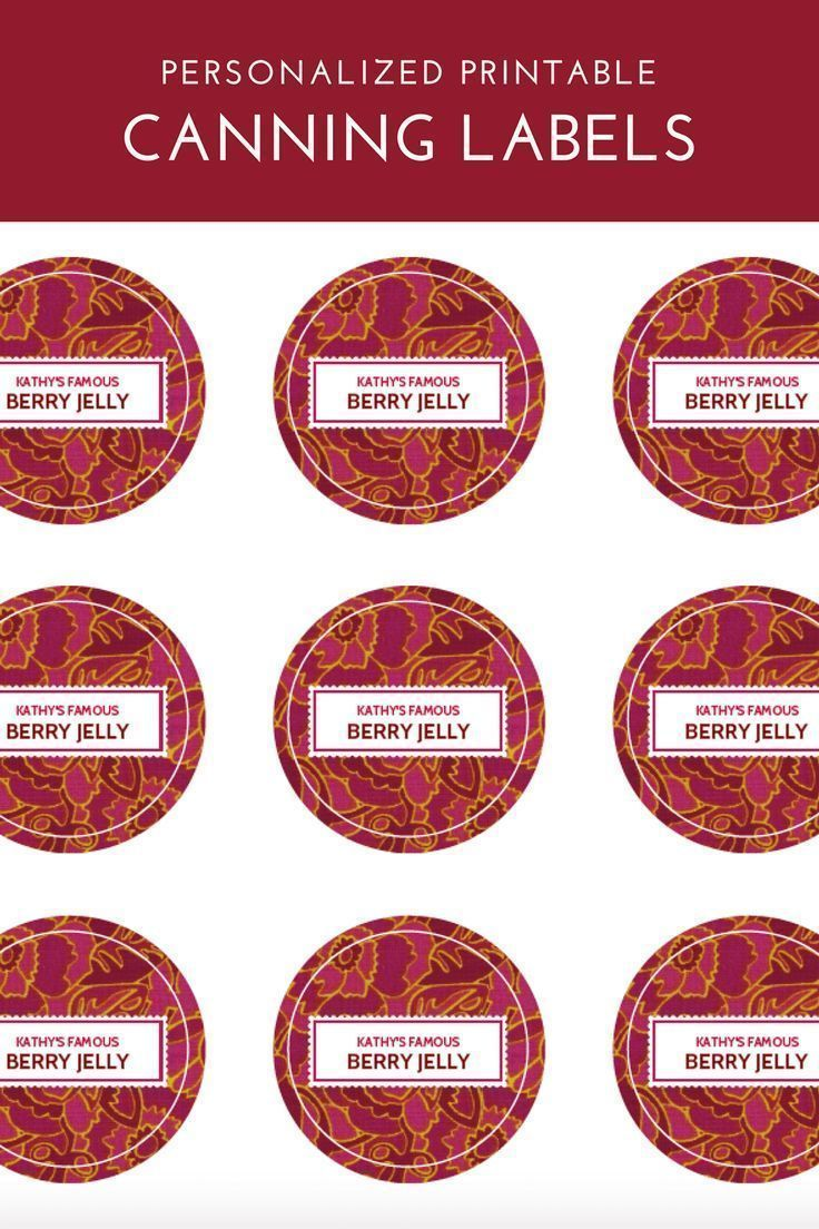 canning label template printables pinterest canning labels