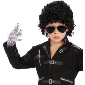 Gant Michael Jackson enfant, Gant argent à paillettes sequin, licence Michael Jackson, années 70, danse, spectacle, anniversaire, fêtes, carnaval