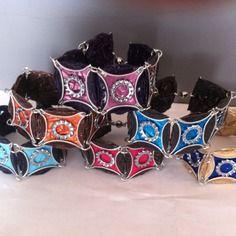 Bracelets multicolores en capsules nespresso recyclées