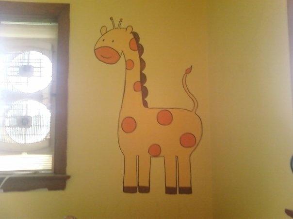 giraffe I painted for a boys jungle themed room
