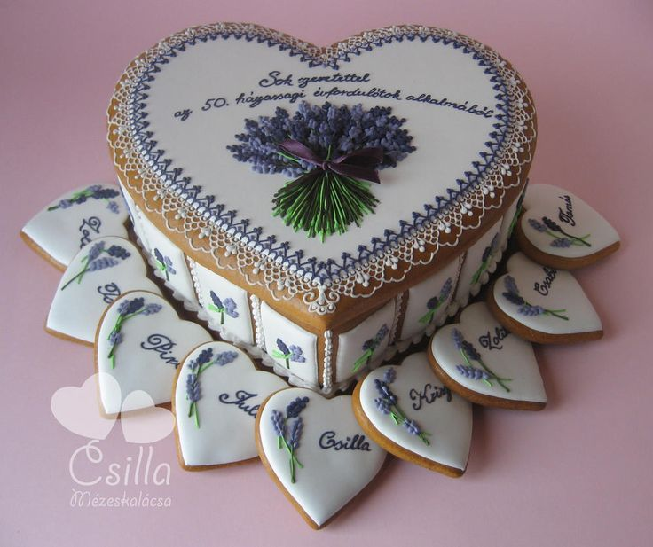 Gingerbread box, with lavender | Cookie Connection