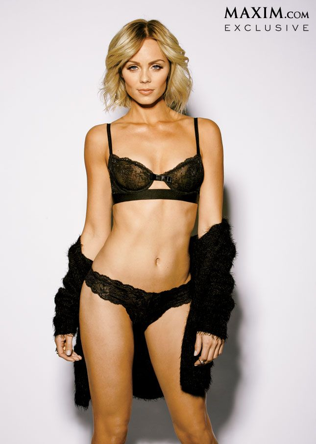 Laura Vandervoort in black lingerie