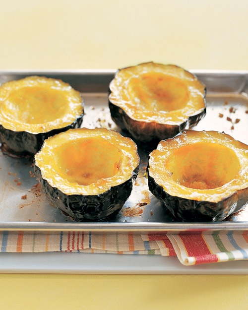 Baked Acorn Squash with Brown Sugar Recipe | Cooking | How To | Martha ...
