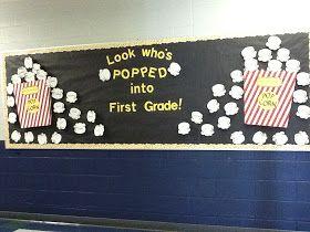 Mrs. Butterfield's First Grade: Popcorn bulletin board