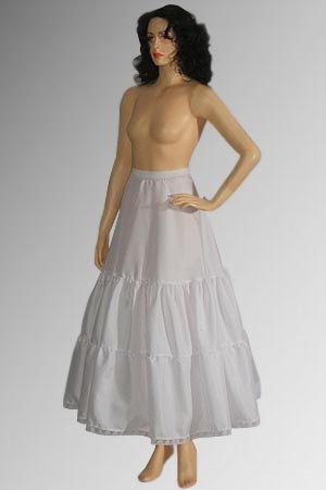 16世紀ルネサンス貴族女性。イタリア。スペイン Petticoat(ペティコート)=スカートの下に着る下着。時代毎にその素材や構成、使い道は異なる。ルネサンス期のペティコートはファージンゲールとも呼ばれ、鯨骨などで枠を作ってスカートを大きく膨らませる機能がある。素材は滑りを良くするため、絹が好まれた。 イタリアやスペインでは円錐形を作るペティコートが多いが、イギリスではタイヤ型の腰を使ってドラム形のスカートにする。 A-Line Petticoat - Renaissance medieval Clothing, Costumes