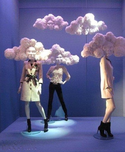 Heads of clouds, Moschino