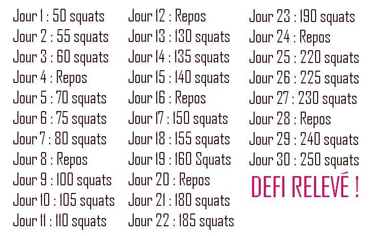 Objectif été : 30 Days Squat Challenge   Coucou tout le monde ! Je viens vous présenter ce soir un Challenge découvert très récemment sur la...