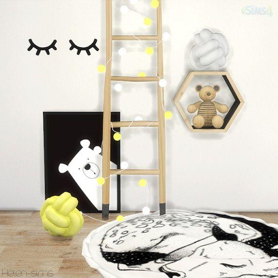 Helen Sims: Scandinavian children's decor • Sims 4 Downloads