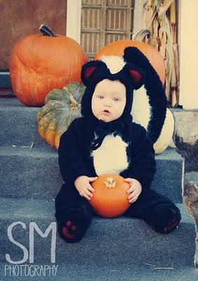 Baby Halloween Photography    #baby #halloween #photography #skunk