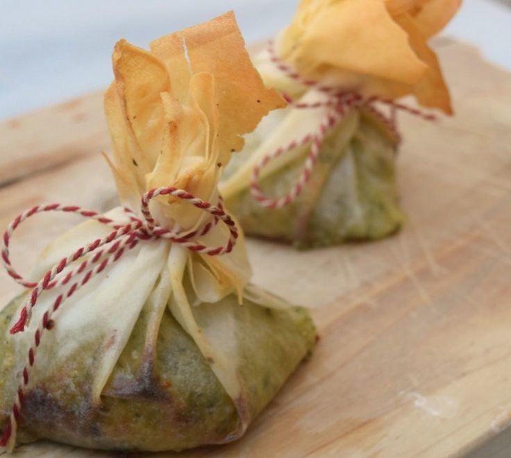 Hapje: Camembert-buideltjes