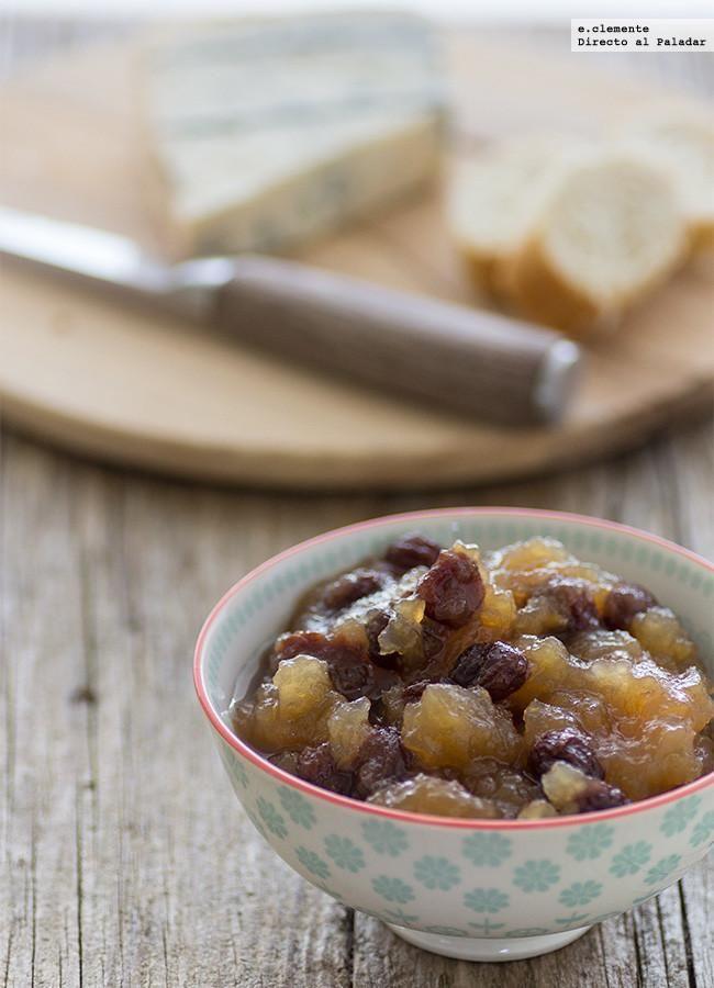 Chutney de manzana y pasas. receta con fotos del paso a paso y sugerencias de presentación. Trucos y consejos de elaboración. Recetas de salsas...